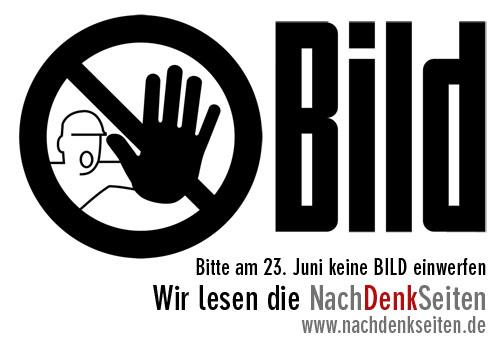 Bitte am 23. Juni keine BILD einwerfen