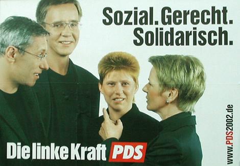 Wahlplakat PDS 2002