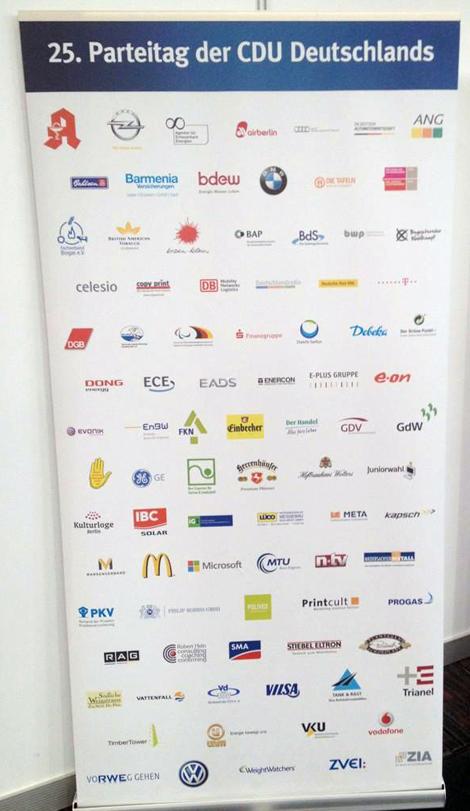 DGB Sponsor des CDU-Parteitags