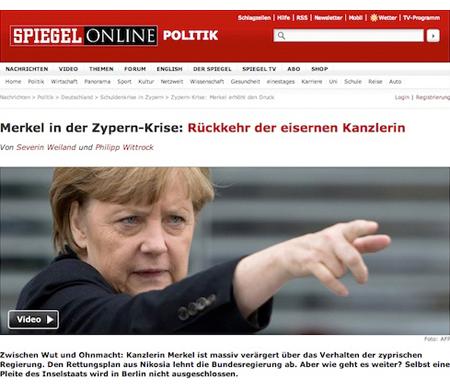 Merkel sauer auf Zypern