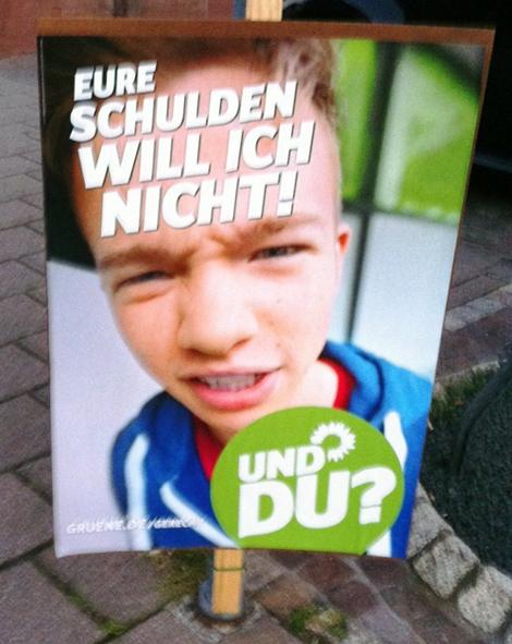 Wahlplakat Grüne 2013
