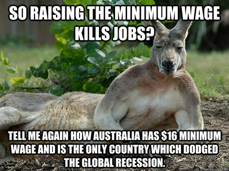 Minimum Wage kills jobs?