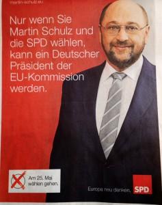 Nur wenn Sie Martin Schulz und die SPD wählen, kann ein Deutscher Präsident der EU-Kommission werden