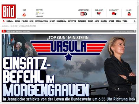 Top-Gun-Ministerin Ursula