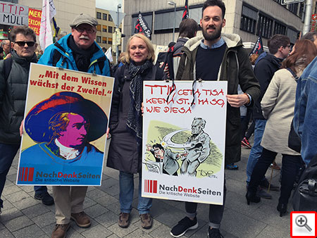 Demo gegen TTIP, Hannover, 2016