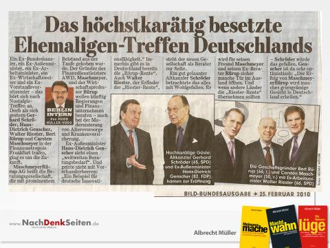 Riester-Rente, Gerhard Schröder, Hans-Dietrich Genscher, Carsten Maschmeyer, Riester und Rürup