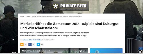 Merkel Gamescom 2017