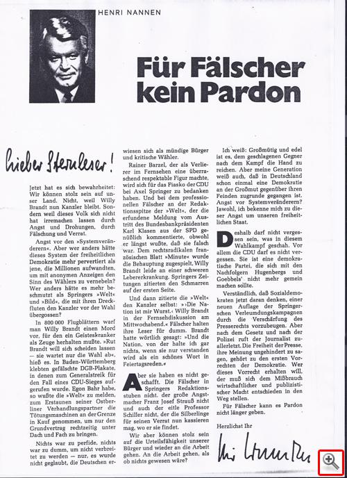 Henri Nannen - Für Fälscher kein Pardon