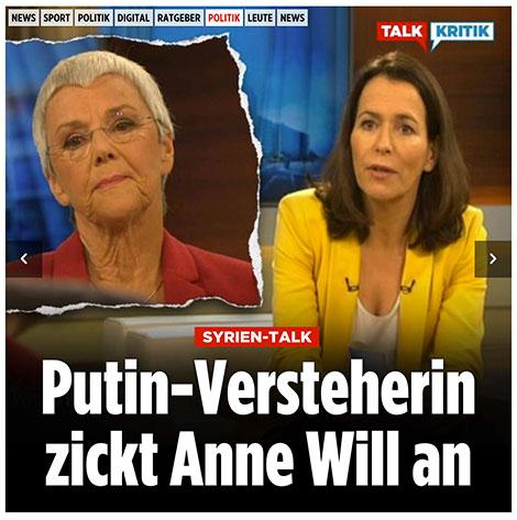 Putin-Versteherin zickt Anne Will an