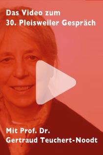 Das Video zum 30. Pleisweiler Gespräch mit Professorin Dr. Gertraud Teuchert-Noodt zum Thema: Verbaut die digitale Revolution unseren Kindern die Zukunft?