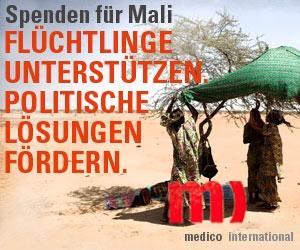 Spendenaufruf für Mali