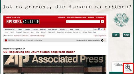 Werbung der INSM auf SPIEGEL Online