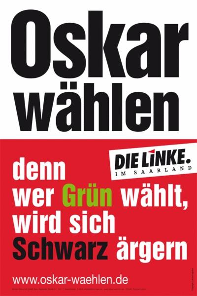 Wahlplakat Linke