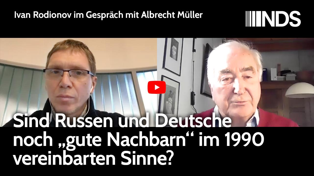 Ivan Rodionov im Gespräch mit Albrecht Müller